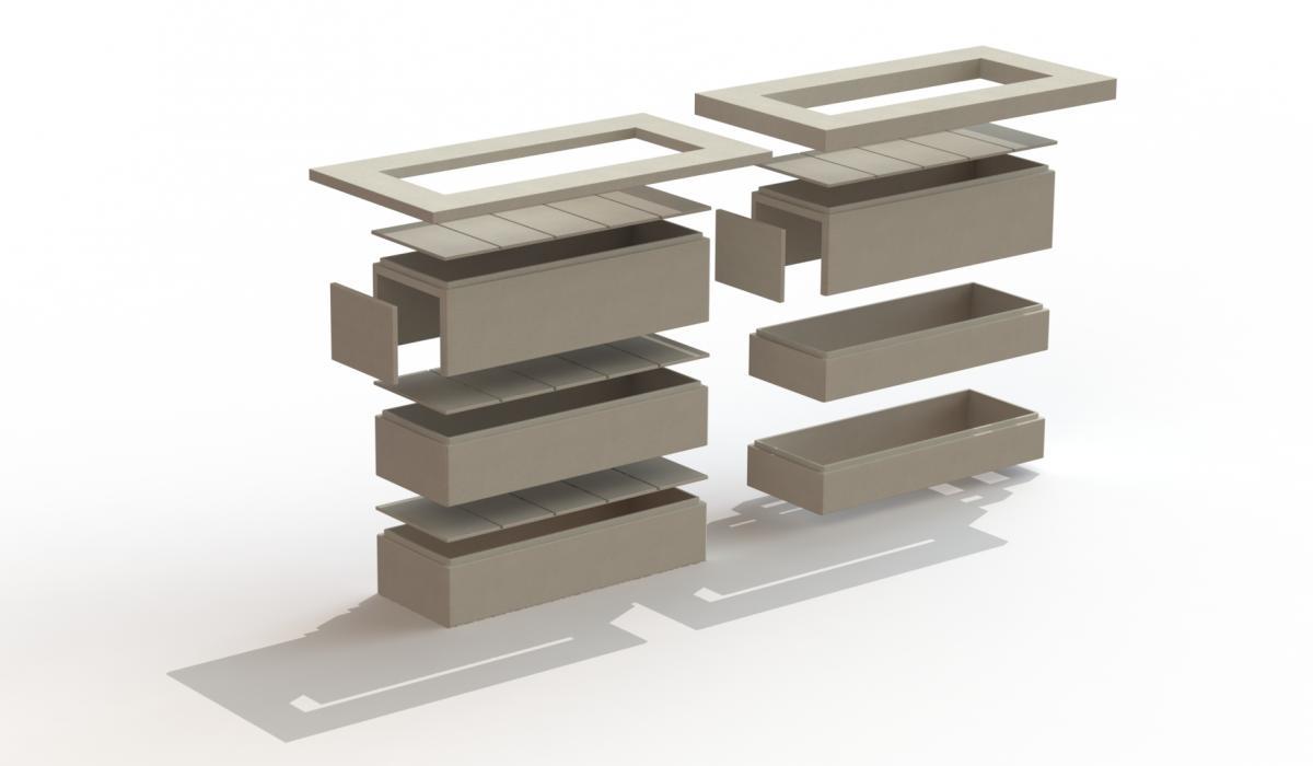 Osiris Modulart - grafkelder in beton