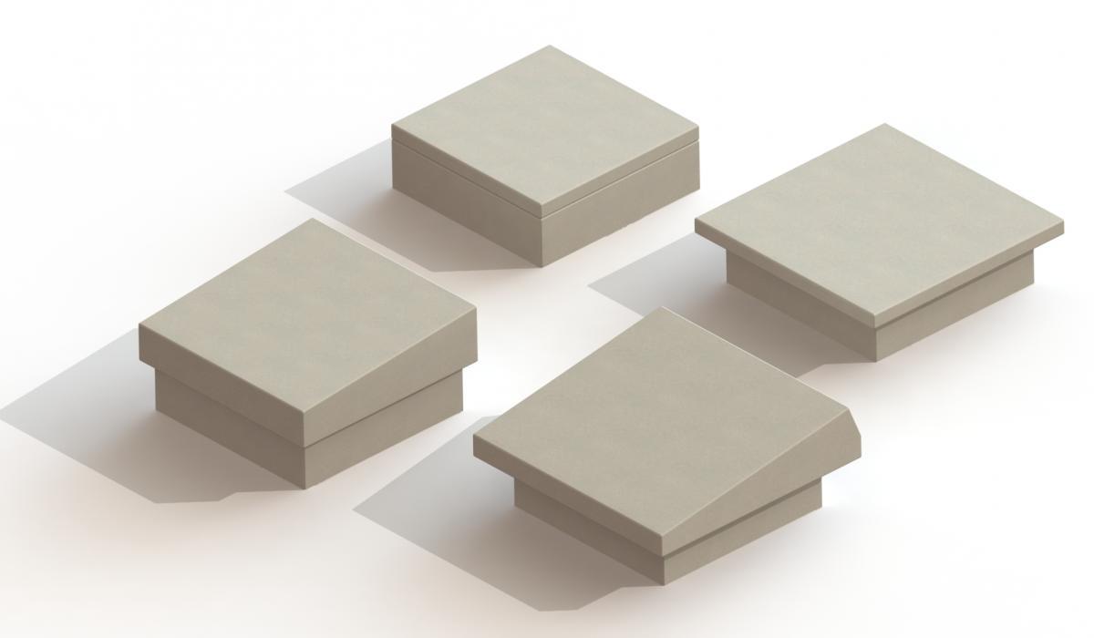 Urnenkelder met deksteen in beton