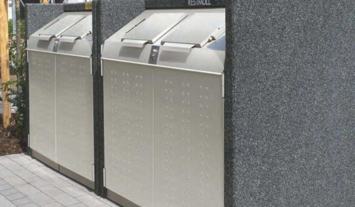 Afvalcontainerkast silent serie 1100